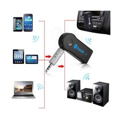 Universal  Mini Car Bluetooth Audio Music Receiver Adapter Auto AUX in Connection wireless to Speakers