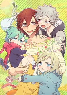 Tags: Little Boy, Four Males, Leek, Shivue, Uta no☆prince-sama♪, Kotobuki Reiji