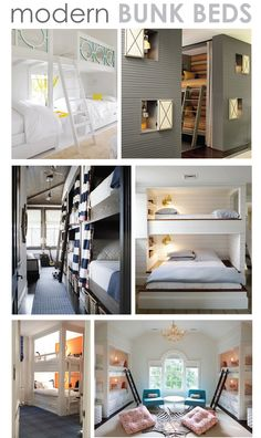 Built-in bunk ideas for the sleeping space.  #1 ... potential guest loft?