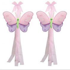 Pink & Purple Butterfly Curtain Tie Backs