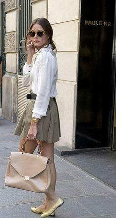 Love the outfit but I would opt for heels instead of flats:-)