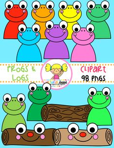 Frogs & Logs Clipart for Teachers