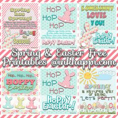 Super cute free spring and Easter printables to decorate with or gift to friends and neighbors.