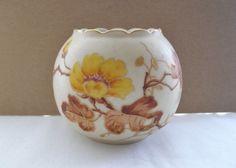 SMALL Fine ANTIQUE Signed CARLSBAD Porcelain c1900 VASE Hand Painted ART NOUVEAU