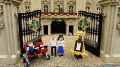 A Lego model of Princess Charlotte has joined the Lego Cambridge family at Legoland Windsor