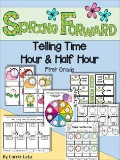 Do you need some fresh new material for teaching Time? Something that will get your students motivated to learn and be successful?Maybe you'll like this!These spring graphics are as cute a bug!  Literally!  Your students will love working with these little guys!This product is jammed packed full of useful, practical resources that will help your first graders have fun learning to tell time.There are fun games and activities for practicing and worksheets for assessing, practicing and re-teach