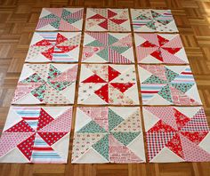 @ sewdeerlyloved - Pinwheels in the Park Quilt - free pattern @ Sew Mama Sew Pinwheel Quilt Pattern, Quilt Block Patterns, Quilt Blocks, Star Quilts, Scrappy Quilts, Baby Quilts, Baby Patchwork Quilt, Quilting Tutorials, Quilting Projects