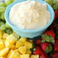 Cheesecake Fruit Dip @keyingredient #cheese #easy #cheesecake
