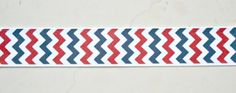 patriotic nautical chevron on white 7/8 grosgrain by IsamayDesigns, $1.59