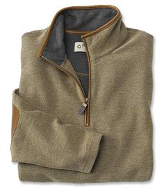 You'll appreciate the rugged details of our quarter-zip tweed sweatshirt. Cowboy Outfits, Country Outfits, Cool Shirts, Casual Shirts, Men Sunglasses Fashion, Tweed, Man Dressing Style, Half Zip Sweaters, Pullover