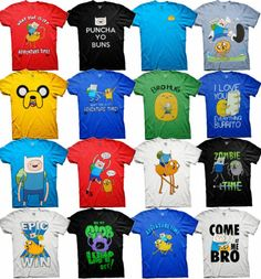Adventure Time T-Shirt Finn Jake Cartoon Network show Fan party costume shirts