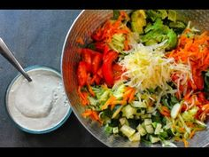 The BEST Raw Vegan Salad Dressing + My Favorite Salad RECIPE - YouTube