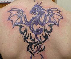 25 Encouraging Tribal Dragon Tattoo Designs - SloDive