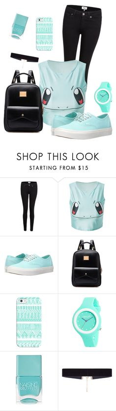"""blue"" by nikolinanina22 ❤ liked on Polyvore featuring Paige Denim, Vans, Casetify, Rip Curl, Nails Inc. and 8 Other Reasons"