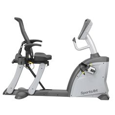 SportsArt #Fitness C521m Cycle Breathable, reclining mesh seat back with lumbar pouch for hot/cold packs. Bi-directional resistance. Adjustable pedal crank allows for range of motion adjustments. Step-through design allows for safe and easy on/off access. Simple adjustment levels lock into place quickly. C521m #Cycle