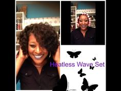 Heatless Curl Wave Set | Refresh A Wash and Go on Natural Hair - YouTube