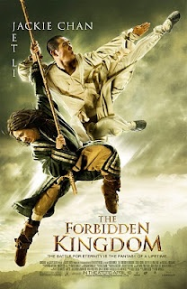 THE FORBIDDEN KINGDOM.  After the first 5 minutes, it gets really good!  Lots of life lessons and GREAT music!