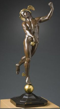 Flying Mercury, c. 1620  Northern Europe, 1610-1630  Bronze  27 in. (68.6 cm)  The Norton Simon Foundation