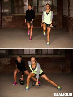 Carrie Underwood and trainer Erin Oprea: Glamour Magazine