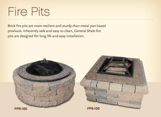 outdoor fire pit idea with brick