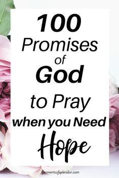 100 Promises of God to Pray
