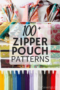over 100 zipper pouch patterns!