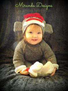 It's Hallowe'en, Baby! {Sock Monkey costume}