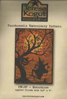 "TERESA KOGUT ""Moondance"" | Primitive Punch Needle Pattern & Weavers Cloth…"