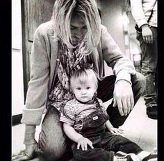 Frances Cobain with her father