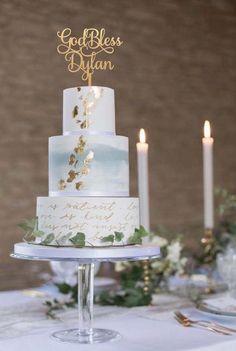 Jessica Davies, Elegant Wedding Cakes, Wedding Cake Designs, Wedding Cake Toppers, Holy Communion Cakes, First Communion, Watercolor Wedding Cake, Dusty Blue Weddings, Fashion Cakes