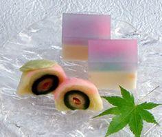 Japanese Sweets, wagashi, 「桃香」「宍道湖の夕景」
