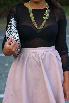 Black & Pink + Spots + A Little Sparkle.