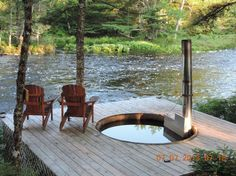 wood hot tub - Picture of Trout Point Lodge of Nova Scotia, East Kemptville - Tripadvisor Outdoor Fire, Outdoor Living, Outdoor Spa, Hot Tub Backyard, Backyard Pools, Pool Decks, Lake Landscaping, Cabana, Preschool Garden
