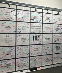 We always stress the importance of kindness to our students. What a great idea for teachers to show kindness to each other! Even better if a jeans pass 👖were to be the BINGO prize! Staff in educator Chris Legleiter's school. School Staff, School Counselor, School Classroom, Classroom Ideas, Middle School, Classroom Activities, Classroom Displays, Music Classroom, Future Classroom