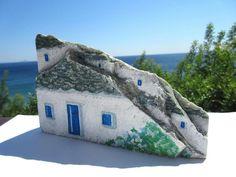 Arte de la roca original pintado a mano piedras OOAK por IkarianArt