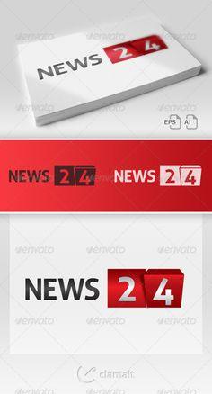 News 24 Bis /  Logo Design Template Vector #logotype Download it here: http://graphicriver.net/item/news-24-bis-logo/4960542?s_rank=3?ref=nexion