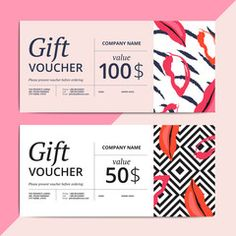 Trendy abstract gift voucher card templates. - Buy this stock vector and explore similar vectors at Adobe Stock | Adobe Stock
