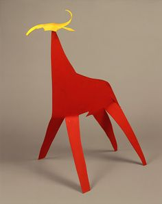 Blue and Red Bull with Yellow Head, Alexander Calder. © 2000 Estate of Alexander Calder / Artists Rights Society (ARS), New York Alexander Calder, Modern Sculpture, Abstract Sculpture, Sheet Metal Art, Art Grants, Kinetic Art, National Gallery Of Art, Oeuvre D'art, American Art