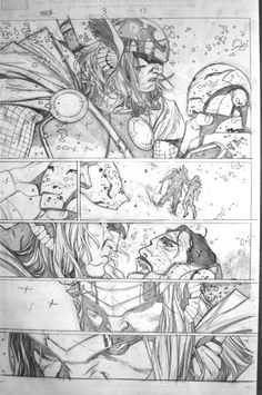 "Résultat de recherche d'images pour ""coipel thor"" Comic Book Layout, Comic Book Pages, Comic Book Artists, Comic Book Characters, Comic Artist, Comic Books Art, Bd Comics, Manga Comics, Illustrations"