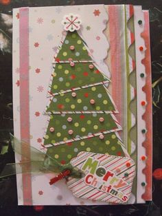 Sharon Callis Christmas Project Bonanza - take four! Fun and Funky Christmas Tree Card at Ain't She Crafty