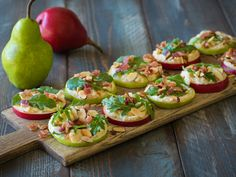 Maple Mascarpone Pear Bites from @Jewel-Osco