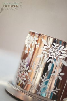 What a fabulous shot of our wonderful Enchanted Winter Snow Votive Holder x