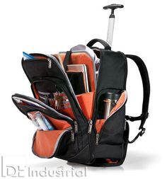 Trolley backpack with compartment for laptop