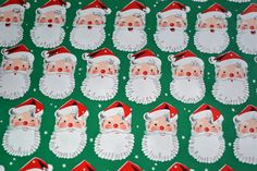 Vintage Christmas Wrapping Paper  Santa Claus on by pumpkintruck, $12.50