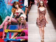 Tịt phân nâu diện váy kẻ caro của Vivienne Westwood có giá 775 USD (16 triệu đồng) và thắt lưng cùng hãng có giá 9 triệu đồng.