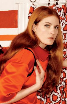 "luthienmuse: """" Florence Welch for W Magazine - Close ups "" "" Omg omg omg omg Florence Welch Hair, Florence Welch Style, Kari Jobe, Sara Bareilles, Pentatonix, Star Photography, Florence The Machines, Celebs, Orange"