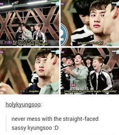 Love my sassy strait faced Kyunsoo