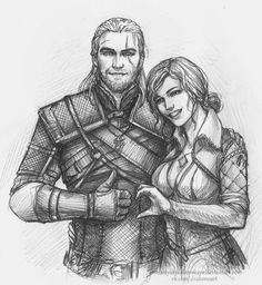 Geralt and Triss Merigold by NastyaKulakovskaya