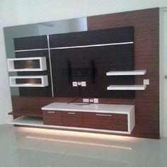 backdrop tv minimalis Lcd Unit Design, Lcd Wall Design, Modern Tv Unit Designs, Tv Unit Interior Design, Tv Unit Furniture Design, Bed Frame Design, Living Room Tv Unit Designs, Bathroom Interior Design, Bed Design