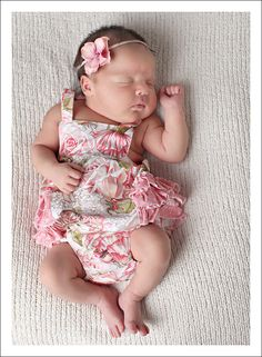 Baby Pattern PDF, Ruffled Baby Romper, Bubble Romper Pattern - newborn - 24 months. $6.95, via Etsy.